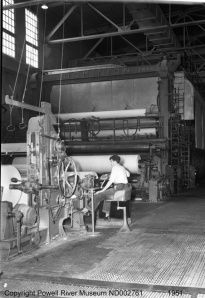Powell River Company Paper Machine 1951